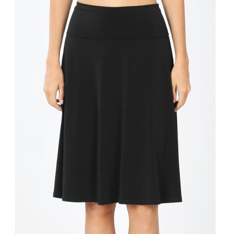 Zenna Skirt: Black Plus Size