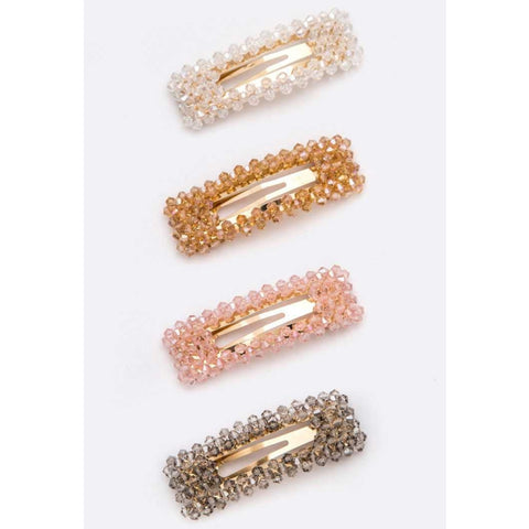 Square Beaded Clips - The Mimi Boutique