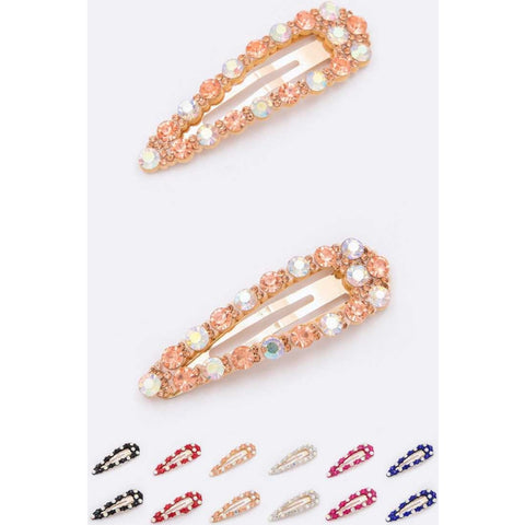 Rhinestone Clips - The Mimi Boutique