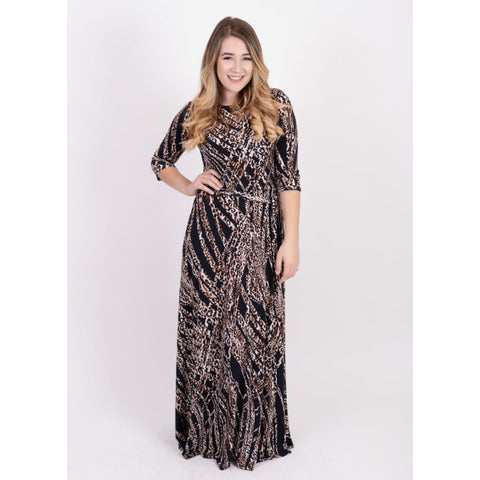 Brown Leopard Maxi - The Mimi Boutique