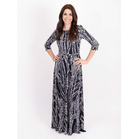Black Leopard Maxi - The Mimi Boutique