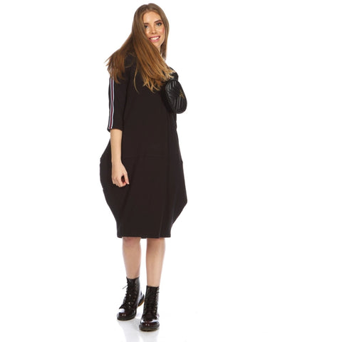 Mia Cocoon Dress: Black - The Mimi Boutique