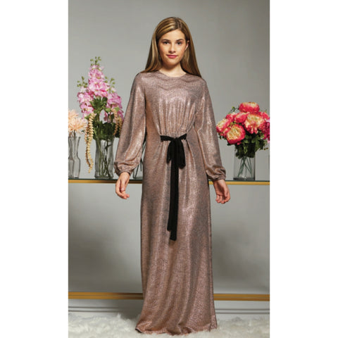 Harlow Maxi (Teen): Rose Gold - The Mimi Boutique