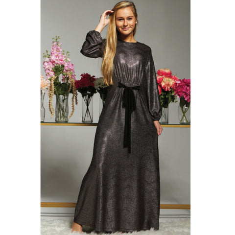 Harlow Maxi (Teen): Gunmetal - The Mimi Boutique
