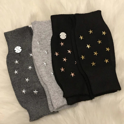 Star Wool Fingerless Gloves