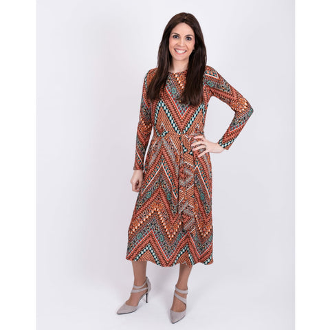 Pleated Satin Dress: Missoni Orange - The Mimi Boutique