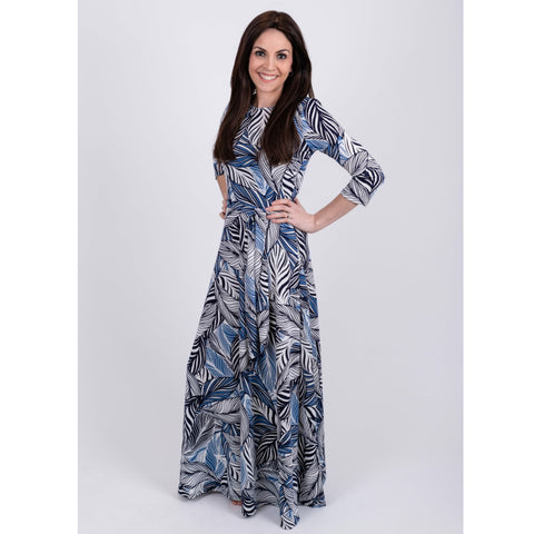 Blue Leaves Maxi