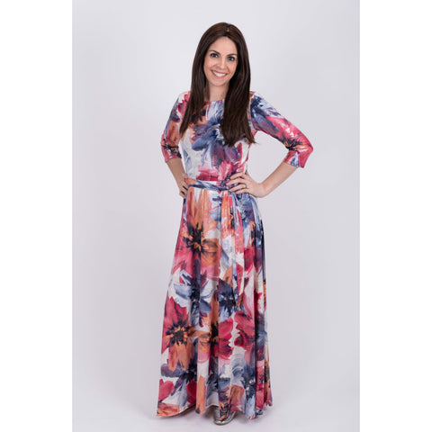 Tropical Foil Leaves Maxi