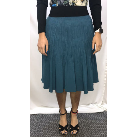 Crinkle Skirt: Teal - The Mimi Boutique