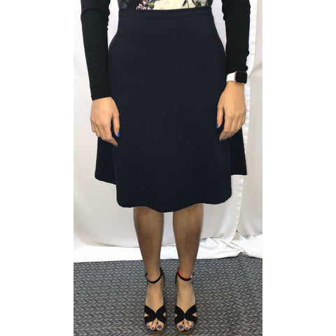 Sam Basic Aline Skirt: Navy - The Mimi Boutique
