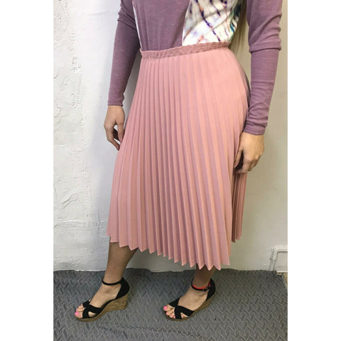 Pleated High Top Skirt: Pink - The Mimi Boutique