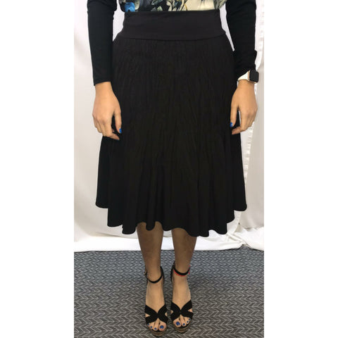 Crinkle Skirt: Black - The Mimi Boutique