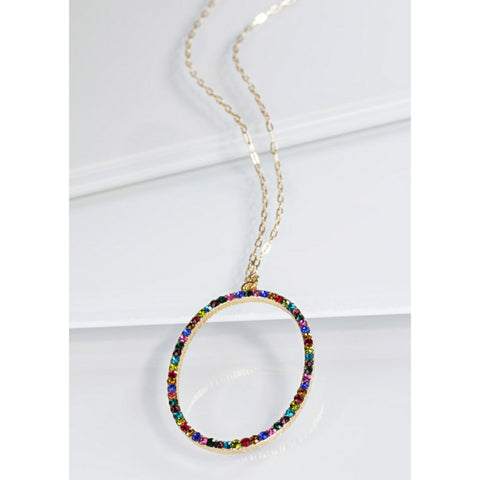 Oval Rainbow Necklace - The Mimi Boutique