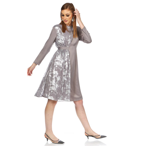 Millie Dress: Silver - The Mimi Boutique
