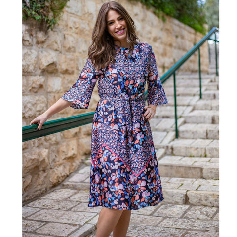 Petal Bell Sleeve Dress