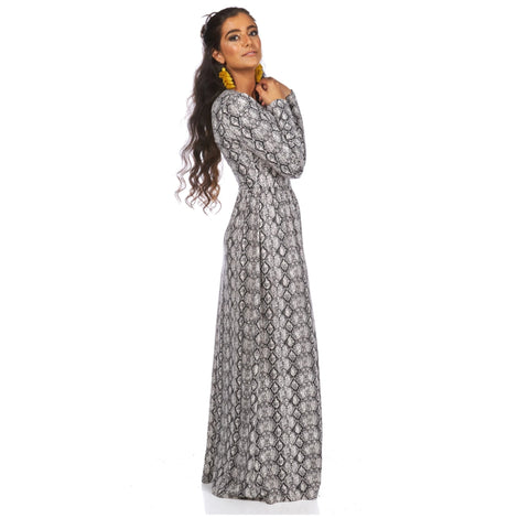 Classic Maxi: Snakeskin - The Mimi Boutique