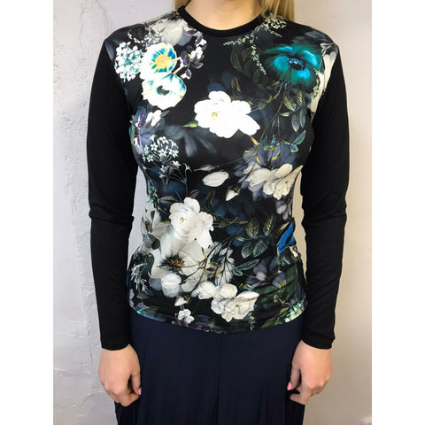 Floral Top: Blues