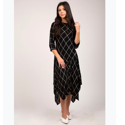 Plaid Assymetrical Dress