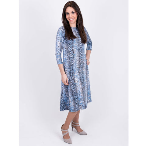 Penny Dress-Blue Snake - The Mimi Boutique