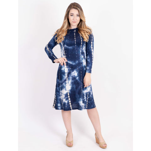 Penny Tye Dye Dress-Blue Tye Dye Brick