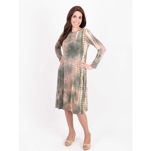Penny Tye Dye Dress-Green Tye Dye Brick