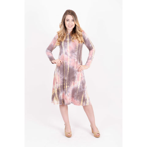Penny Tye Dye Dress-Pink Tye Dye Brick