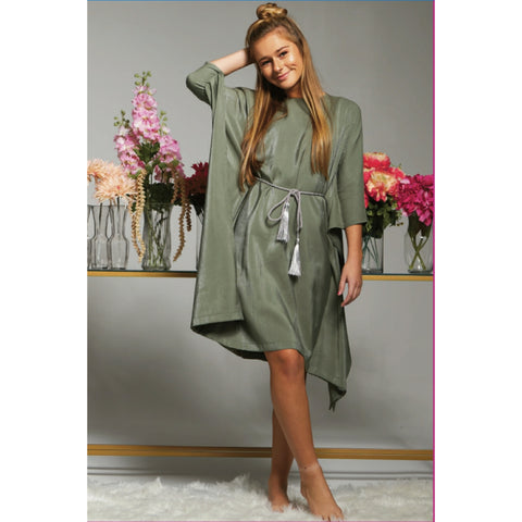 Serena Caftan: Moss (Teen) - The Mimi Boutique