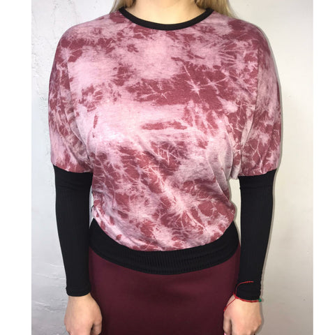 Kimano Dolman Top: Starburst Pink - The Mimi Boutique