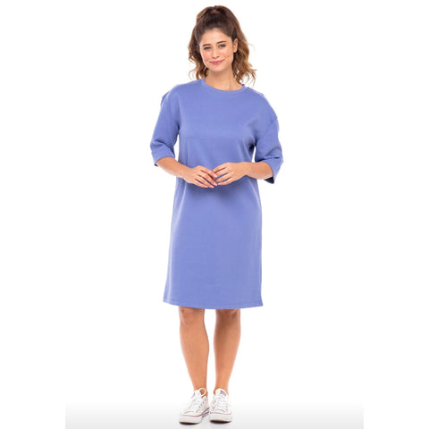 Solid TShirt Dress: Periwinkle Blue - The Mimi Boutique