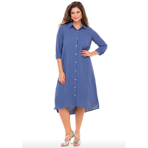 Abbey Dress: Blue - The Mimi Boutique