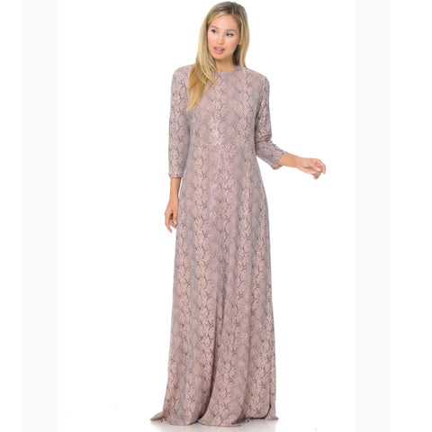 Sequin Snake Pink Maxi - The Mimi Boutique