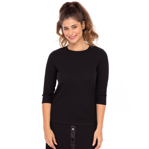 Ribbed Tee: Black - The Mimi Boutique