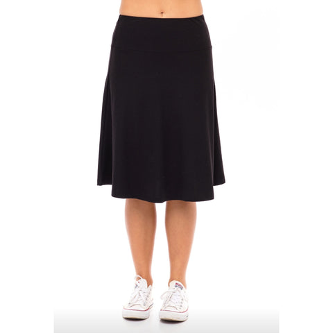 Ribbed Skye Skirt: Black - The Mimi Boutique
