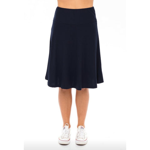 Ribbed Skye Skirt: Navy - The Mimi Boutique