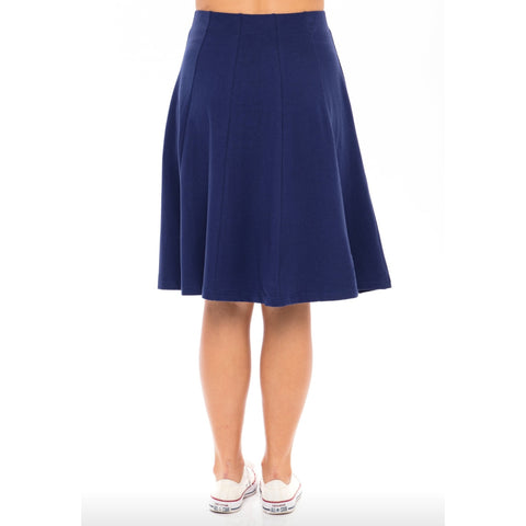 Panel Skirt by Maya's: Navy - The Mimi Boutique