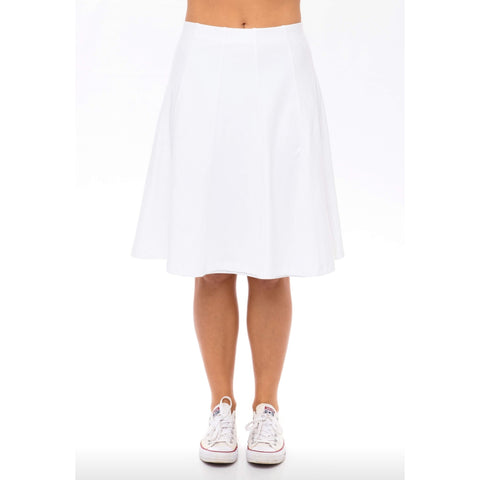 Panel Skirt by Maya's: White - The Mimi Boutique