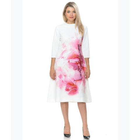 Pink Water Flower Dress - The Mimi Boutique