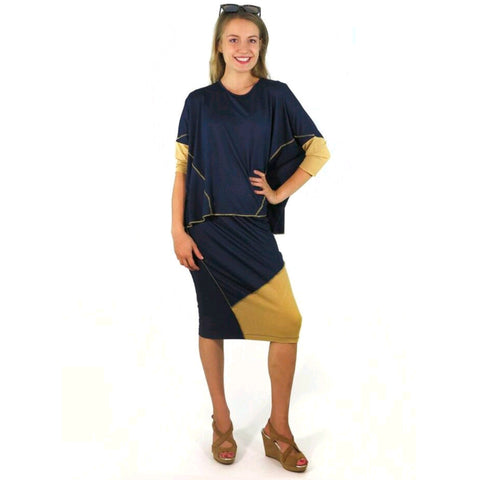 Hana Set: Navy/Camel - The Mimi Boutique