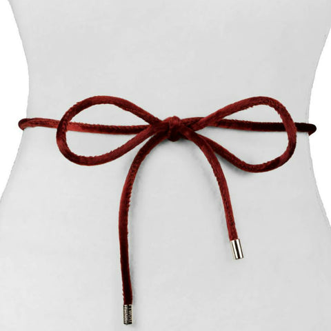 Velvet/Horse Hair Rope Belt - The Mimi Boutique