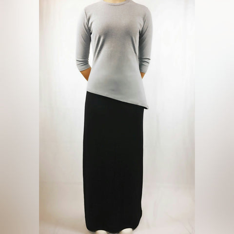 Slinky Long Black Skirt by Ivee - The Mimi Boutique