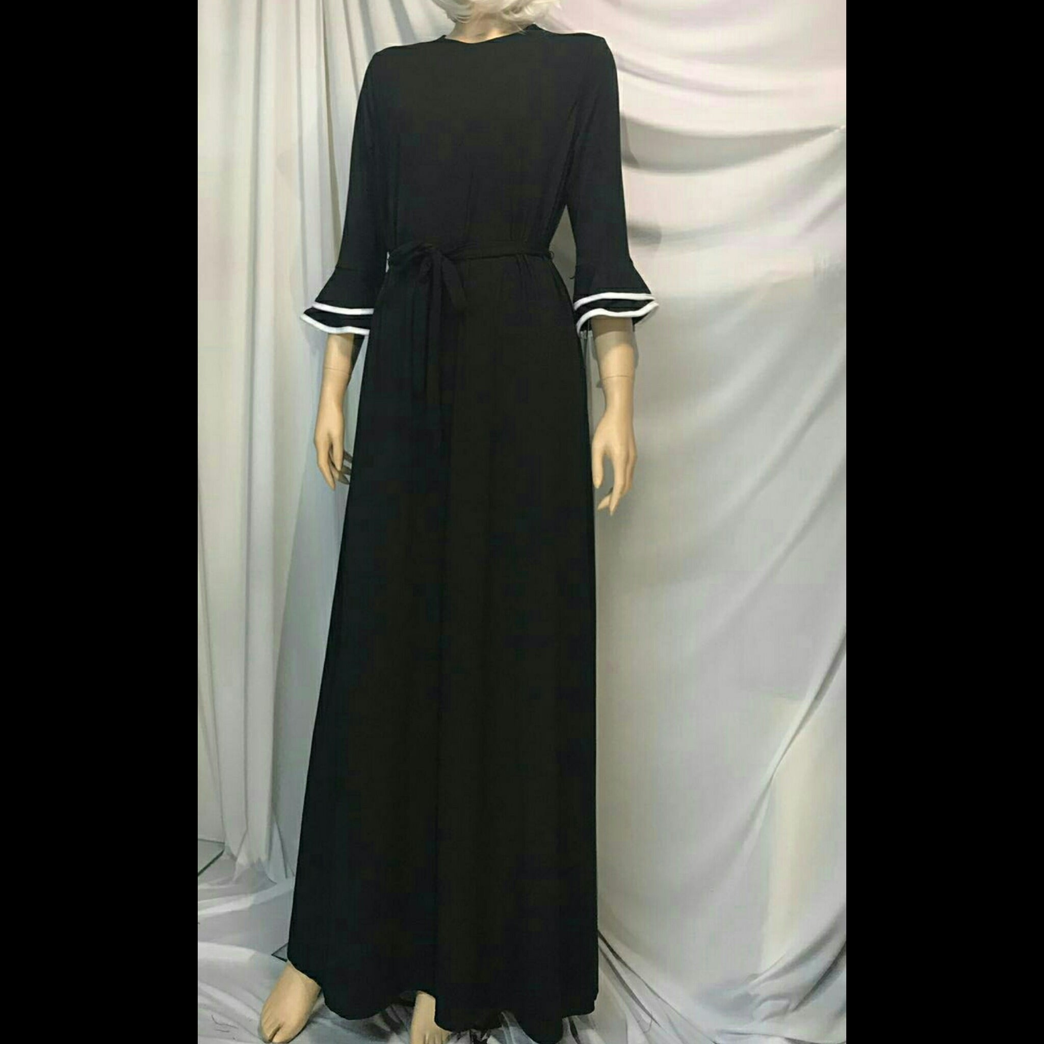 c7b4e121b72 The Mimi Boutique. Simple Black Ruffle Sleeve Maxi Dress. Tap to expand