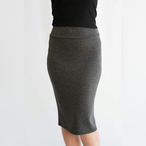 KMW Charcoal Pencil Skirt - The Mimi Boutique