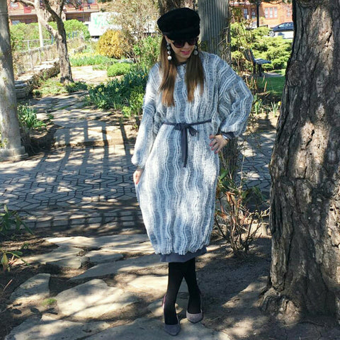The Teddy Bear Dress-Grey - The Mimi Boutique