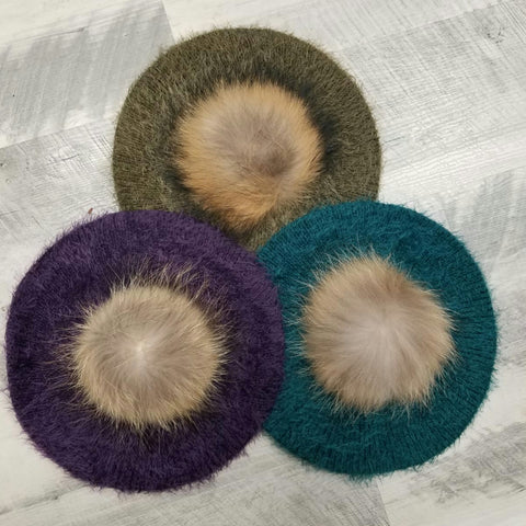 Mohair Snood With Pom - The Mimi Boutique