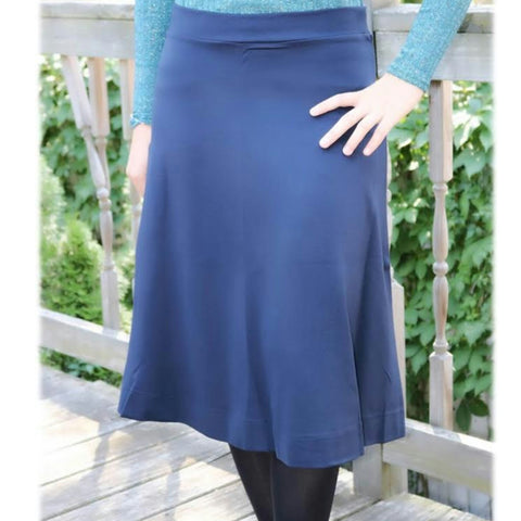 Ponti Ivee Aline Skirt: Navy - The Mimi Boutique
