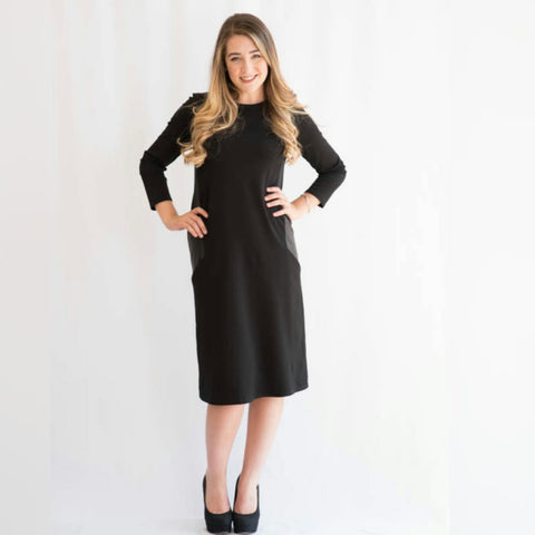 Leather Pocket Dress (2 Colors) - The Mimi Boutique