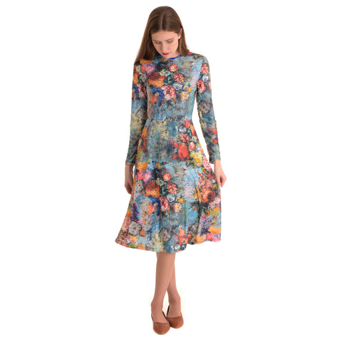 Annie Rainbow Floral Dress - The Mimi Boutique