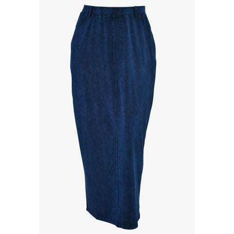 Mineral Wash Straight Long Skirt By Drama - The Mimi Boutique