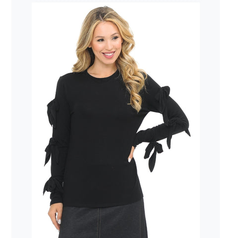 Bow Sleeve Top: 3 Colors - The Mimi Boutique