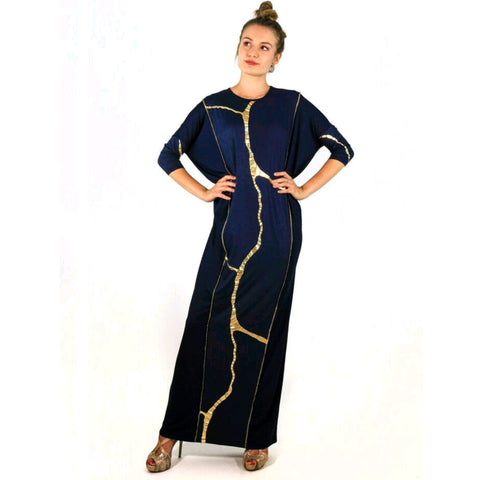 Misa Maxi: Navy/Gold - The Mimi Boutique